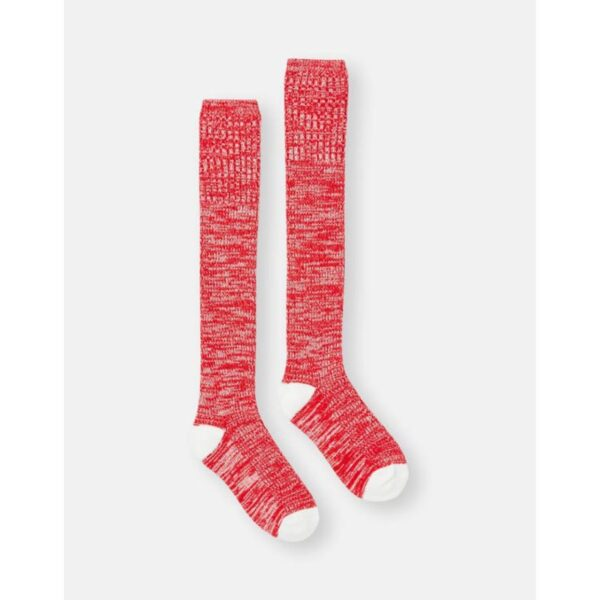 Joules Trussel Knitted Sock - Rose Red