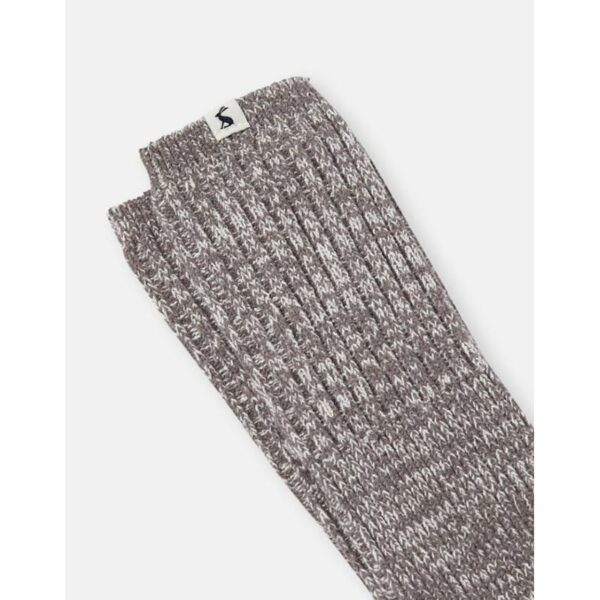 Joules Trussel Sock Knitted Sock Charcoal Grey 1