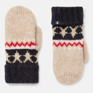 Joules Wilbury Gloves Fairisle Knitted Mittens