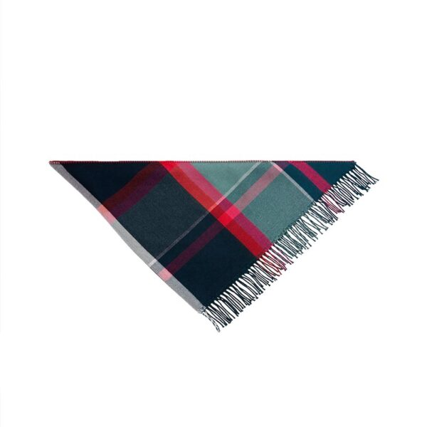 Joules Wilstow Triangle Checked Scarf - Navy Pink Check 3