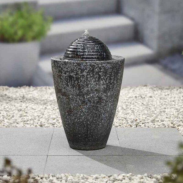Kelkay Dappled Column Water Feature in garden
