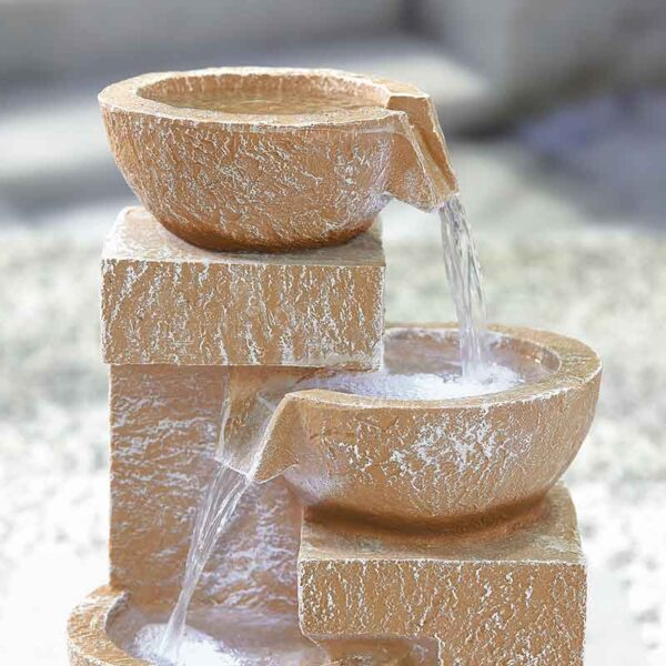 Kelkay Sparking Bowls Water Feature Close Up