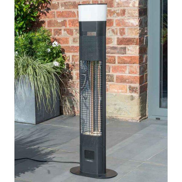 Kettler Ibiza Floor Standing Heater with LED & Bluetooth Speaker on patio