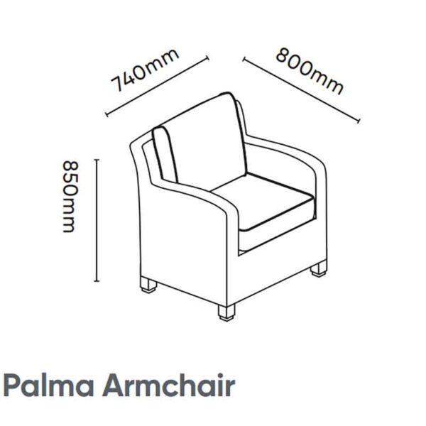 Kettler Palma Armchair with cushions