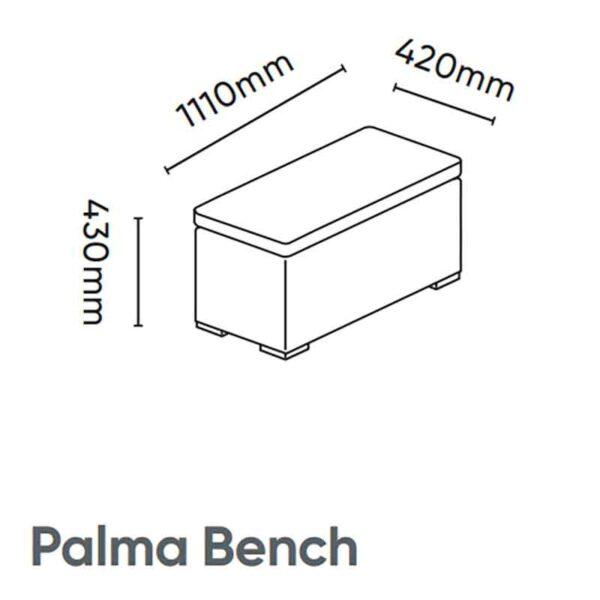 Kettler Palma Bench with cushion