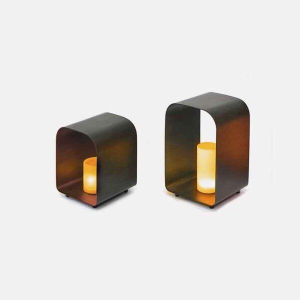 Kettler Palma LED Candle Lights Anthracite - Set of 2 (35cm & 45cm)