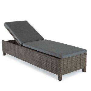 Kettler Palma Lounger Rattan with Grey Taupe Cushions
