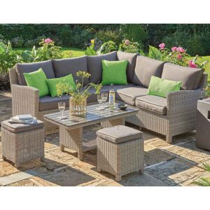 Kettler Palma Mini Corner Set with Table in Rattan
