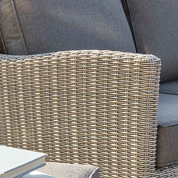Kettler Palma Mini Corner Set with Table in Rattan close up