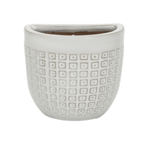 Laura Ashley Pelham White Wall Pot (19cm)