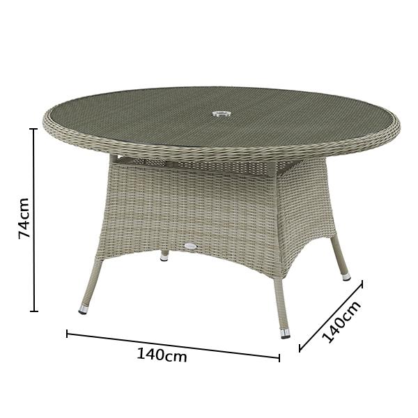 Bramblecrest Monte Carlo 140cm Round Table