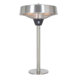 La Hacienda Halogen Electric Tabletop Heater Silver