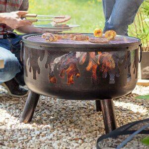 La Hacienda Wildfire Firepit alfresco cooking