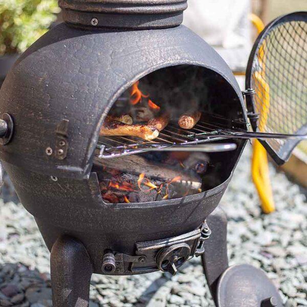Large Sierra Chimenea cooking detail