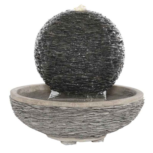 Large Spherical Lagoon Slate Water Feature