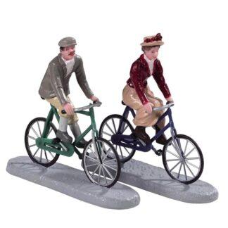 Lemax Bike Ride Date-Set of 2