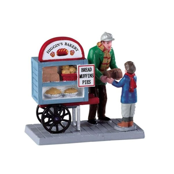 Lemax Delivery Bread Cart