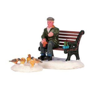 Lemax Feeding Pigeons - Set of 2