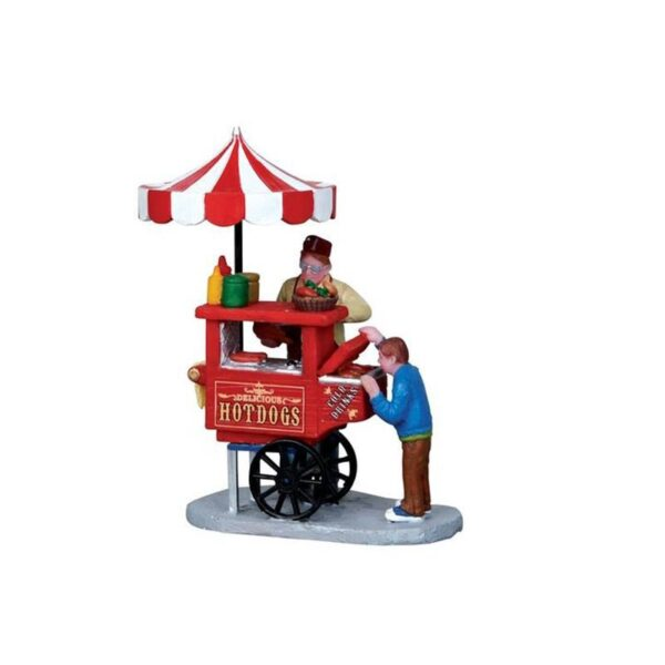 Lemax Hot Dog Cart
