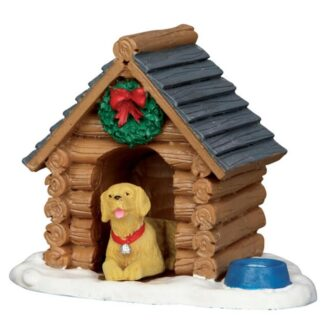 Lemax Log cabin Dog House