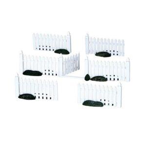 Lemax Plastic Picket Fence - Set of 7