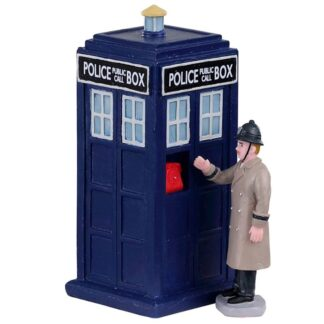 Lemax Police Call Box-Set of 2