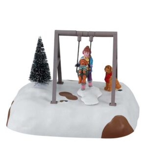 Lemax-Puppy-Gets-A-Swing-Ride