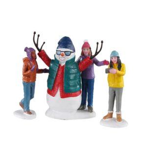 Lemax Snowman Selfie - Set of 3
