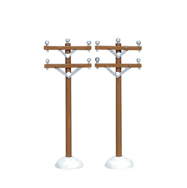 Lemax Telephone Poles -Set of 2