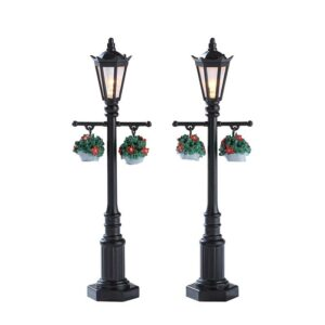Set of 2 Lemax Old English Lamps