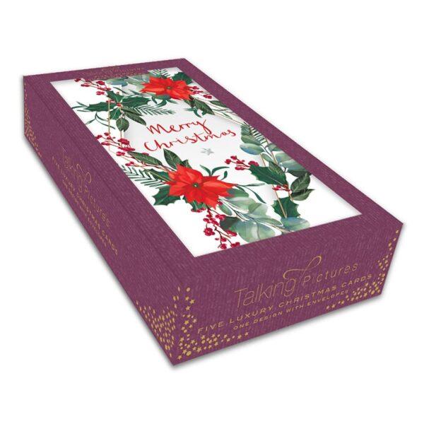 Ling Design Christmas Poinsettia Box