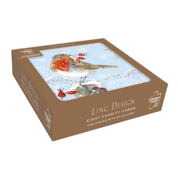 Ling Design Christmas Robin Charity Box