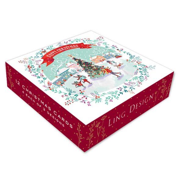 Ling Design Snowy Christmas Box