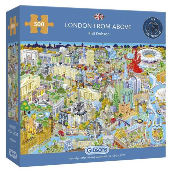 Gibsons London From Above Jigsaw Puzzle - 500 Piece