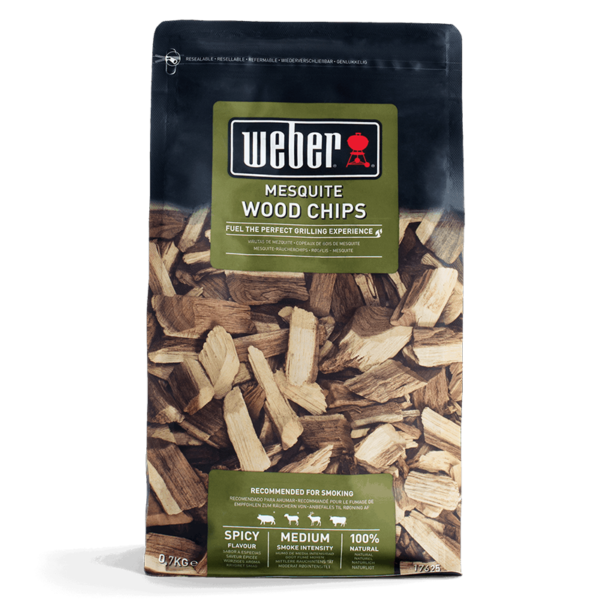 Weber Wood Chips for barbecue smoking - Mesquite (0.7kg)