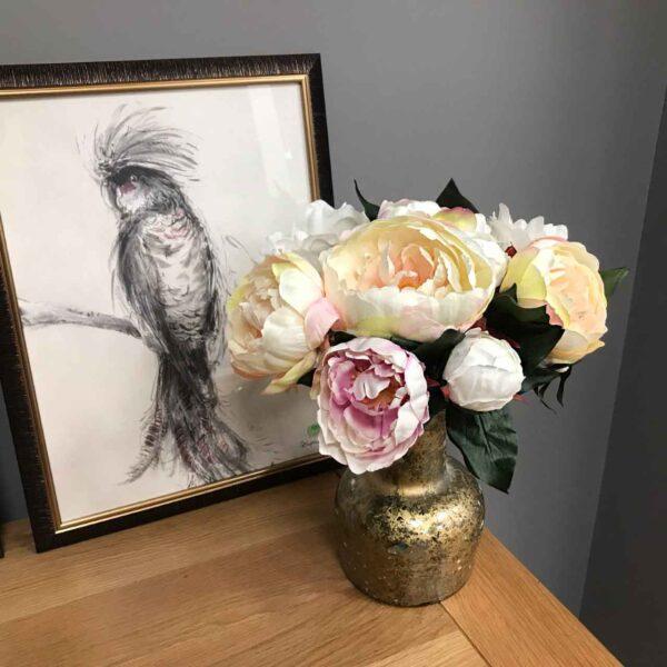 Cream & Pink Peony Bouquet