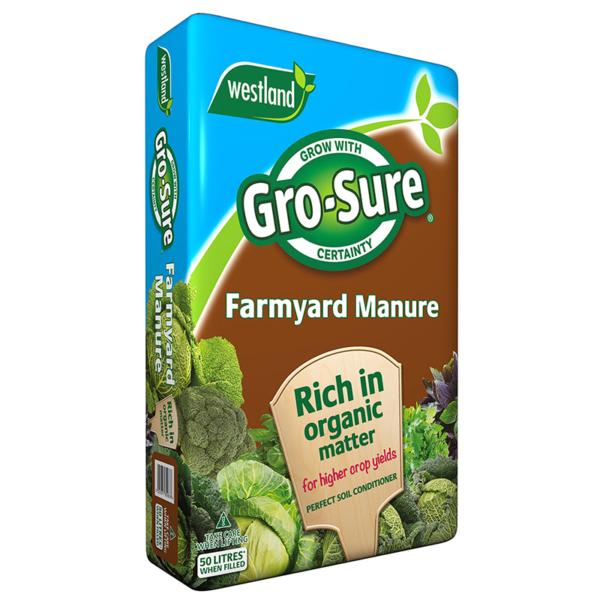 Westland Gro-Sure Organic Farmyard Manure (50 litres)