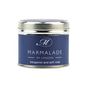 Marmalade Bergamot & Soft Rose Tin Candle
