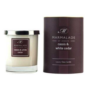 Marmalade Cassis & White Cedar Luxury Glass Candle