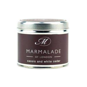 Marmalade Cassis & White Cedar Tin Candle