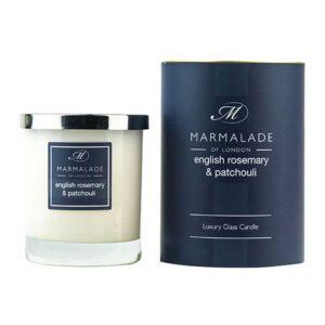 Marmalade English Rosemary & Patchouli Luxury Glass Candle