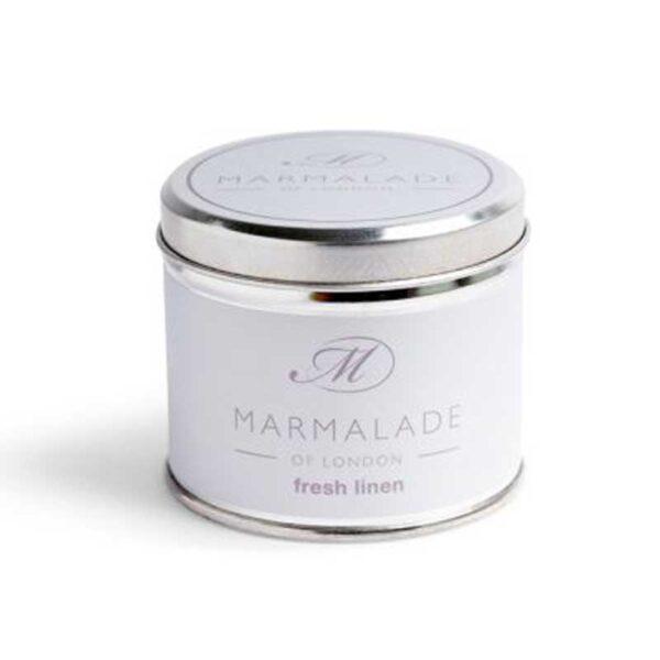 Marmalade Fresh Linen Tin Candle - Medium