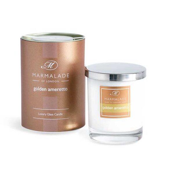 Marmalade Golden Amaretto Luxury Glass Candle