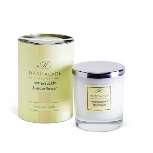 Marmalade Honeysuckle & Elderflower Luxury Glass Candle