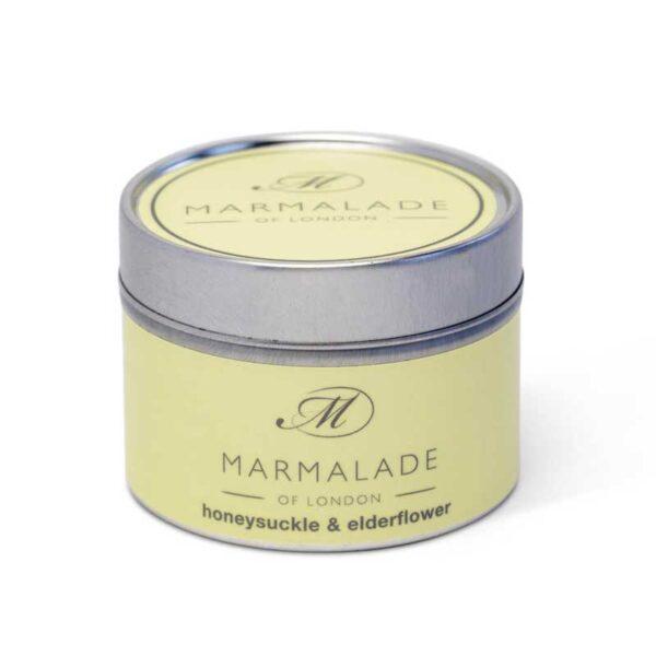 Marmalade Honeysuckle & Elderflower Tin Candle