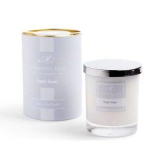 Marmalade Luxury Glass Candle - Fresh Linen