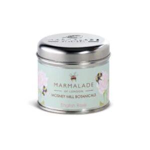 Marmalade Mosney Mill English Rose Medium Tin Candle
