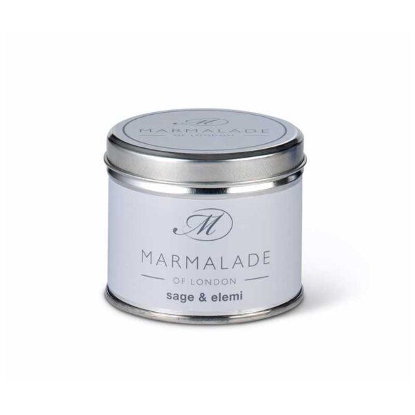 Marmalade Sage & Elemi Tin Candle