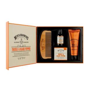 Men's Grooming Thistle & Black Face & Beard Care Kit