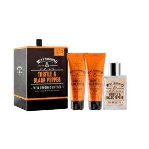 Men's Grooming Thistle & Black Pepper Gift Set